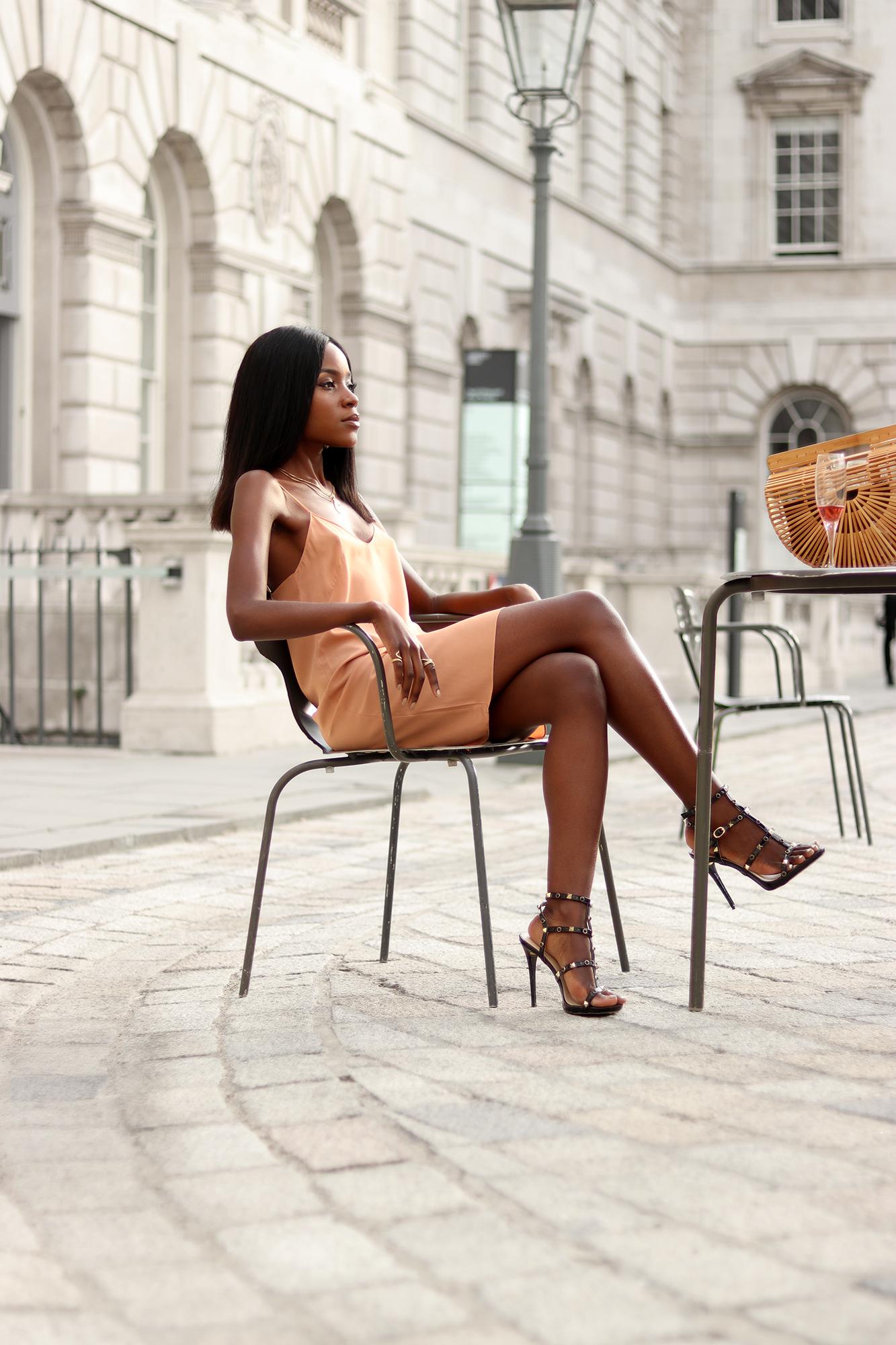 Way to wear slip dresses in summer.