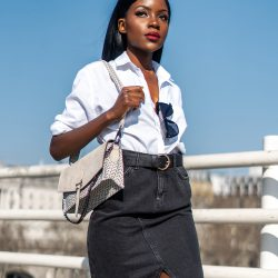 white-shirt-denim-skirt-look