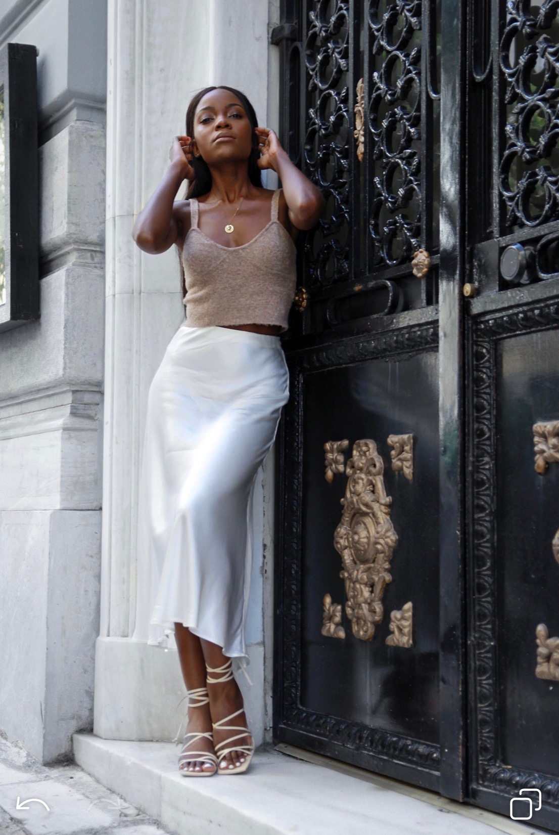 white-satin-skirt